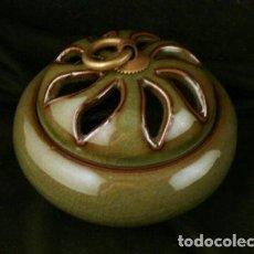 Artesanía: INCENSARIO , QUEMADOR ORIENTAL, PORCELANA VERDE , MUY ORIGINAL. Lote 86291760
