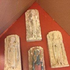 Artesanía: LOTE DE 4 RELIEVES EN YESO, IMAGEN DE LA VIRGEN MARIA, ESTILO GOTICO. PROCEDEN DE OLOT. FIRMADAS. Lote 95341223
