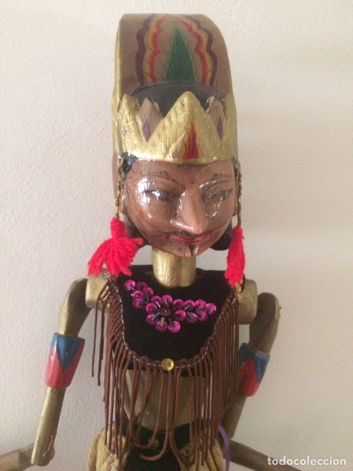 Artesanía: Marioneta Tailandesa 75x15cm - Foto 2 - 96315047