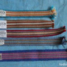 Artesanía: 5 ORIGINALES MARCAPAGINAS DE TELA HECHOS A MANO, TALLER DE KINTUPI - SARA DE LEBU CHILE. Lote 99088487