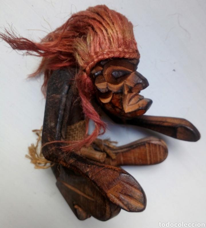 TALLA ÉTNICA DE MADERA. ÁFRICA. TRIBAL (Artesanía - otros articulos hechos a mano)
