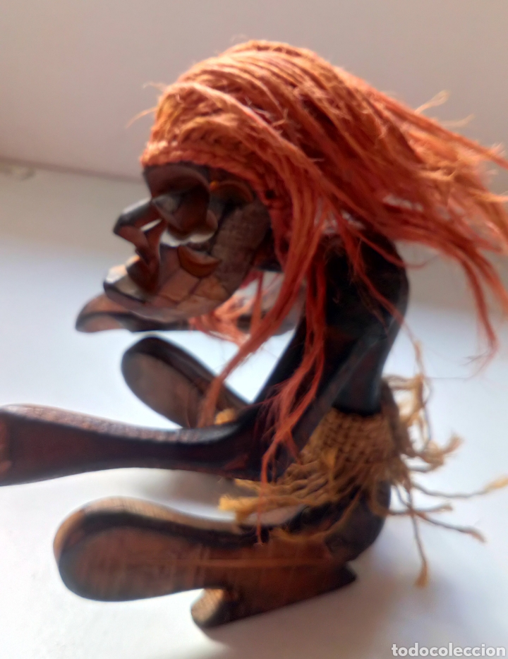 Artesanía: TALLA ÉTNICA DE MADERA. ÁFRICA. TRIBAL - Foto 2 - 100532412