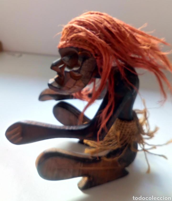 Artesanía: TALLA ÉTNICA DE MADERA. ÁFRICA. TRIBAL - Foto 4 - 100532412