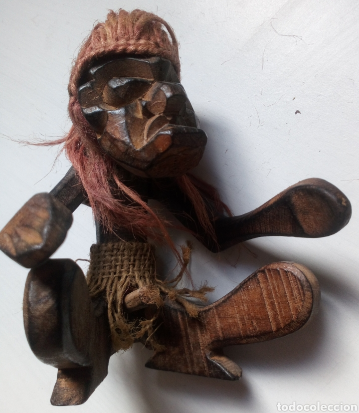 Artesanía: TALLA ÉTNICA DE MADERA. ÁFRICA. TRIBAL - Foto 8 - 100532412