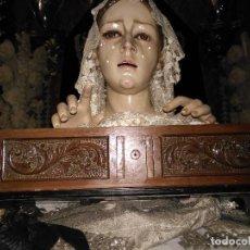 Artesanía: PRECIOSOS CAJON D MADERA TALLADO PARA REALIZAR PEANA DE SEMANA SANTA O PARA VIRGEN CRISTO NIÑO JESUS. Lote 143184732