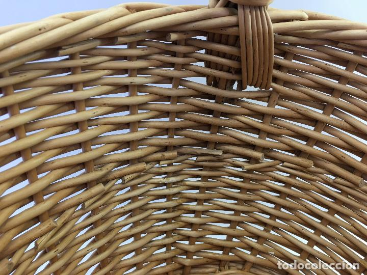 Artesanía: CESTA DE MIMBRE DE CONFECCIÓN NACIONAL - TAMAÑO IDEAL PARA RECOGER SETAS - Foto 9 - 124653323