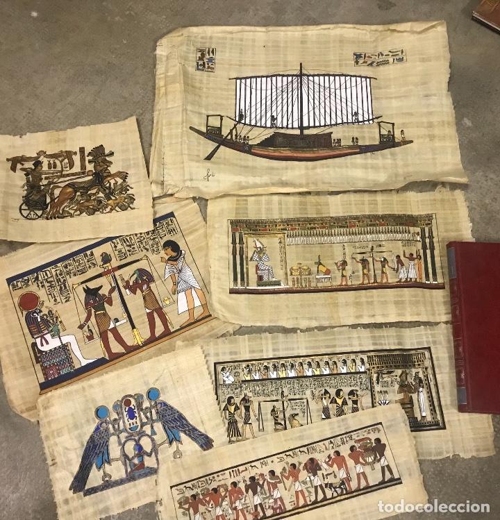 Lote de 7 papiros egipcios enma comprar for Enmarcar fotos online