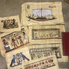 Artesanía: LOTE DE 7 PAPIROS EGIPCIOS ORIGINALES.PARA ENMARCAR.VER FOTOS ANEXAS. . Lote 111582567