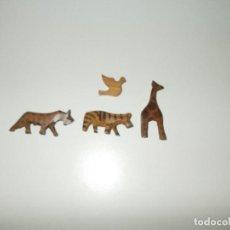 Artesanía: FIGURAS ANIMALES TALLADOS EN MADERA. Lote 112311651