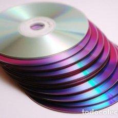 Artesanía: +100 CDS Y DVDS USADOS PARA UTILIZAR EN TRABAJOS MANUALES.. Lote 112887419