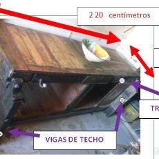 Artesanía: MESA RUSTICA DE PARA COCINA O COMEDOR.. Lote 115331459