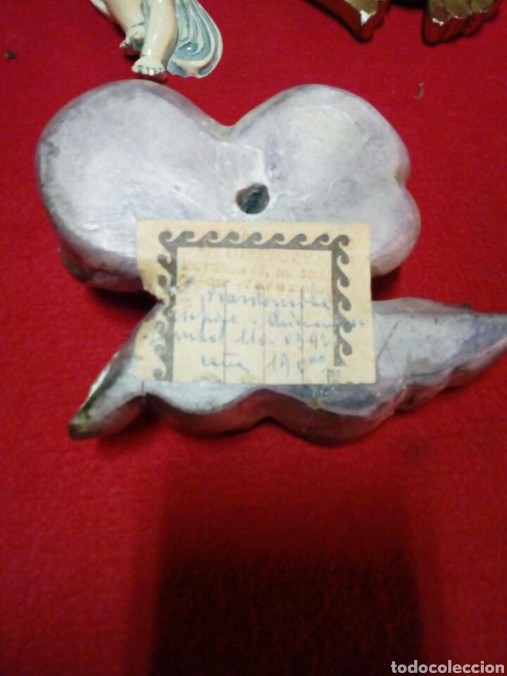 Artesanía: Colección de 5 algeles para colgar en la pared años 60 y 70 - Foto 5 - 138543404