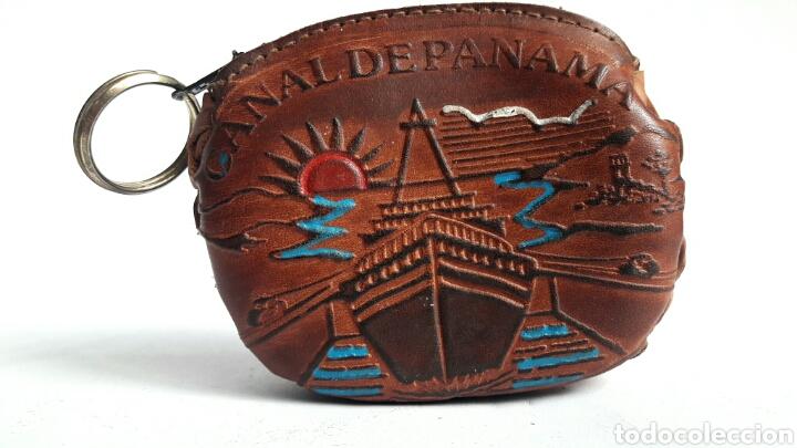 Artesanía: Monedero de cuero repujado de PANAMA. - Foto 2 - 142318312