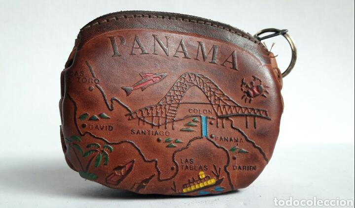 Artesanía: Monedero de cuero repujado de PANAMA. - Foto 3 - 142318312