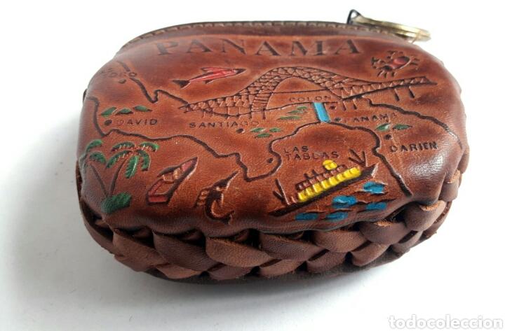 Artesanía: Monedero de cuero repujado de PANAMA. - Foto 4 - 142318312