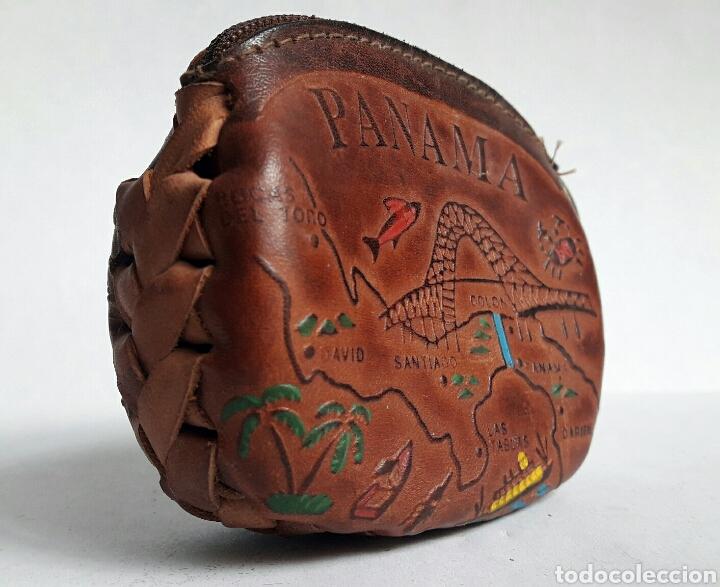 Artesanía: Monedero de cuero repujado de PANAMA. - Foto 5 - 142318312