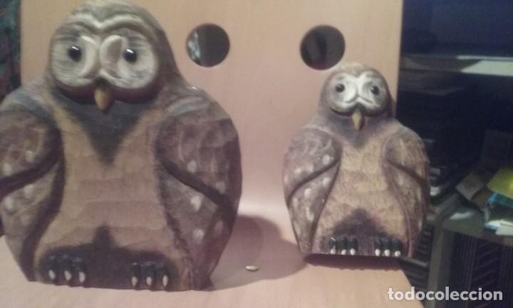 Artesanía: buhos de madera tallada - Foto 2 - 144101022