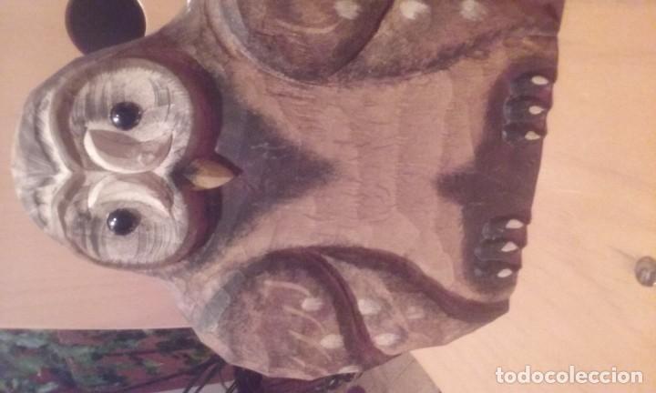 Artesanía: buhos de madera tallada - Foto 3 - 144101022