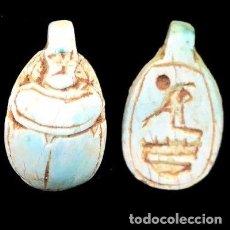 Artesanía: ESCARABEO O ESCARABAJO EGIPCIO AUTÉNTICO 100%.AÑOS 664-332 AC.7 GMS.2 CMS.PIEZA DE MUSEO. Lote 146621266
