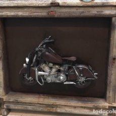 Artesanía: CUADRO MOTOCICLETA CRUISER-CHOPPER. Lote 147911514