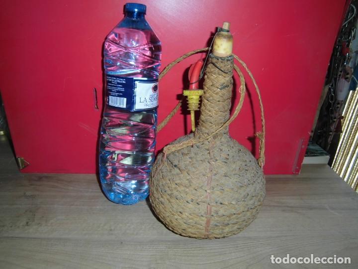 Artesanía: cantimplora de calabaza forrada de esparto - Foto 3 - 150681666
