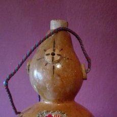 Artesanía: BOTELLA CALABAZA F.C. BARCELONA. Lote 151484282