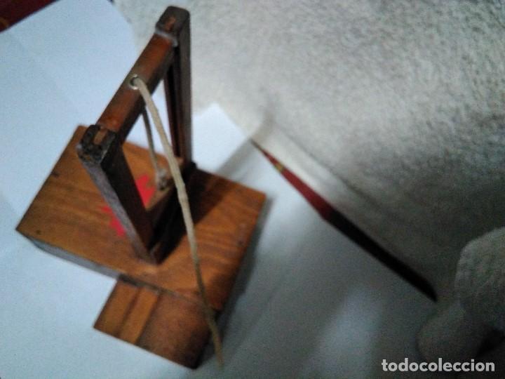 Artesanía: ANTIGUA GUILLOTINA EN MINIATURA - Foto 6 - 152829046