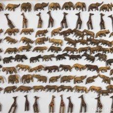 Artesanía: KENIA. TRIBU MASAI. LOTE DE 100 ANIMALES PARA COLLARES DE CUENTAS. VER FOTOS.. Lote 163359330