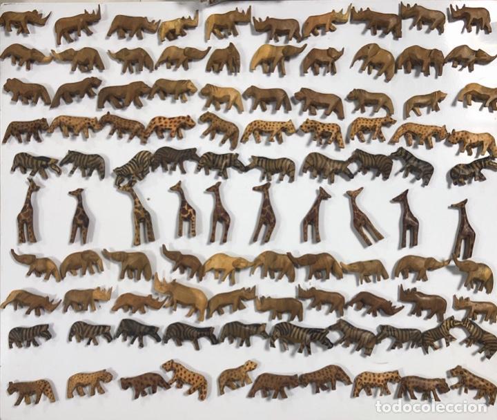 KENIA. TRIBU MASAI. LOTE DE 100 ANIMALES PARA COLLARES DE CUENTAS. VER FOTOS. (Artesanía - otros articulos hechos a mano)