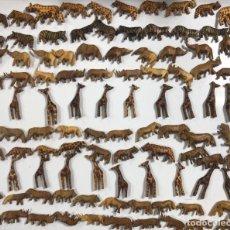 Artesanía: KENIA. TRIBU MASAI. LOTE DE 100 ANIMALES PARA COLLARES DE CUENTAS. VER FOTOS.. Lote 163359818