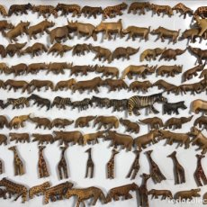 Artesanía: KENIA. TRIBU MASAI. LOTE DE 100 ANIMALES PARA COLLARES DE CUENTAS. VER FOTOS.. Lote 163359842