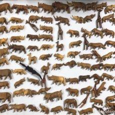 Artesanía: KENIA. TRIBU MASAI. LOTE DE 100 ANIMALES PARA COLLARES DE CUENTAS. VER FOTOS.. Lote 163359894
