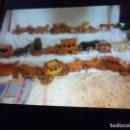 Artesanía: LOTE 10 COCHES DE CABALLOS Y MULAS DE MADERA HECHOS A MANO CON 3 CARROS DE REGALO. DE LUJO.. Lote 164843158
