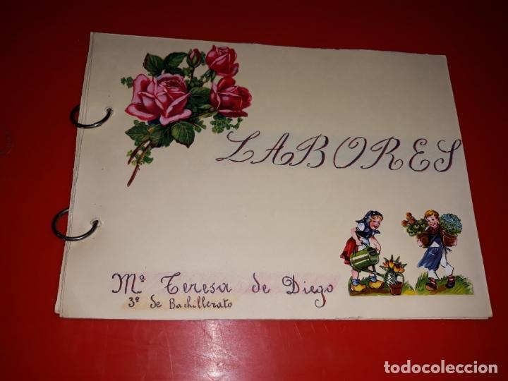 LABORES DE BACHILLERATO AÑOS 60 3 ALBUM EN BUEN ESTADO (Artesanía - otros articulos hechos a mano)