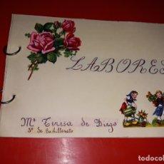 Artesanía: LABORES DE BACHILLERATO AÑOS 60 3 ALBUM EN BUEN ESTADO. Lote 165679150