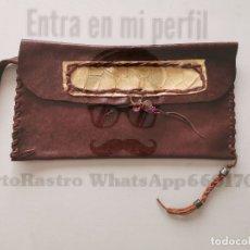 Artesanía: BOLSO DE MANO ARTESANO REPUJADO EN CUERO . Lote 172173895