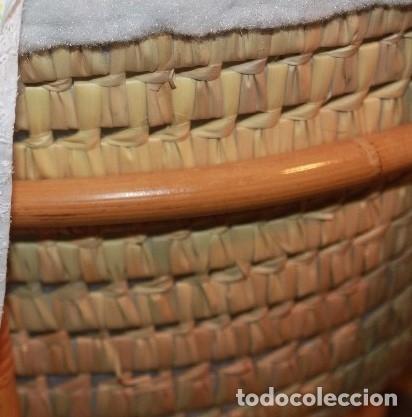 Artesanía: Moisés de mimbre y rafia, para bebé o muñecos - Foto 6 - 135519642