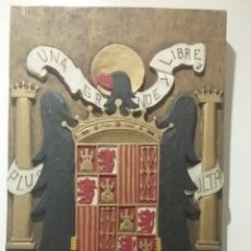Artesanía: ANTIGUO ÁGUILA DE SAN JUAN TALLADO A MANO EN MADERA. (FRANCISCO FRANCO, ESPAÑA, BANDERA, ESCUDO). Lote 175154873