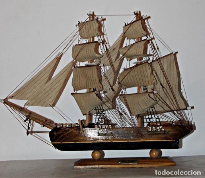 Artesanía: Barco S XIX de madera. Años 50´s. (1) - Madera de roble y partes metálicas España - Primera mitad de - Foto 2 - 177326927