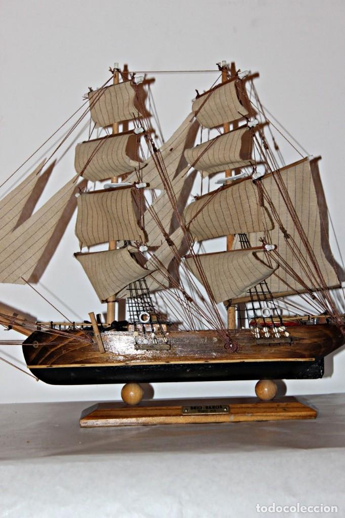 Artesanía: Barco S XIX de madera. Años 50´s. (1) - Madera de roble y partes metálicas España - Primera mitad de - Foto 3 - 177326927