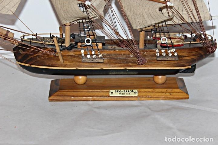 Artesanía: Barco S XIX de madera. Años 50´s. (1) - Madera de roble y partes metálicas España - Primera mitad de - Foto 4 - 177326927