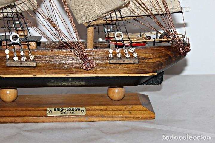 Artesanía: Barco S XIX de madera. Años 50´s. (1) - Madera de roble y partes metálicas España - Primera mitad de - Foto 5 - 177326927