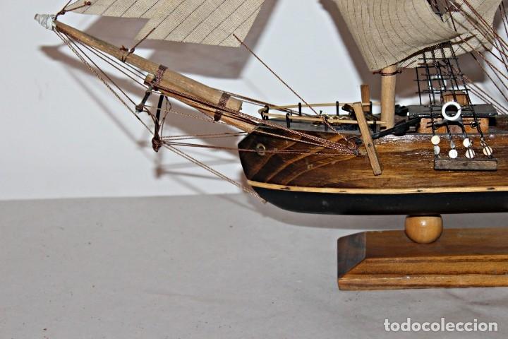 Artesanía: Barco S XIX de madera. Años 50´s. (1) - Madera de roble y partes metálicas España - Primera mitad de - Foto 6 - 177326927