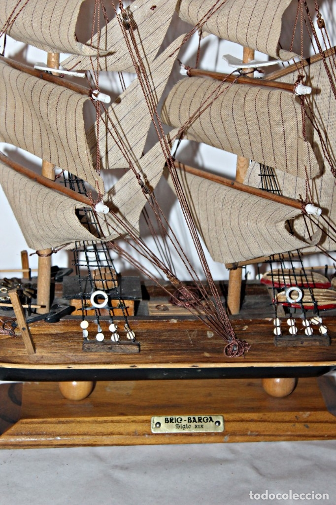 Artesanía: Barco S XIX de madera. Años 50´s. (1) - Madera de roble y partes metálicas España - Primera mitad de - Foto 7 - 177326927