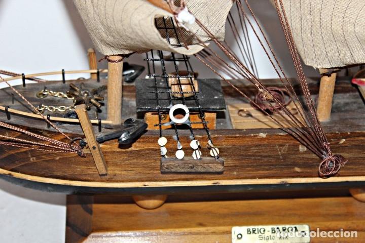 Artesanía: Barco S XIX de madera. Años 50´s. (1) - Madera de roble y partes metálicas España - Primera mitad de - Foto 8 - 177326927