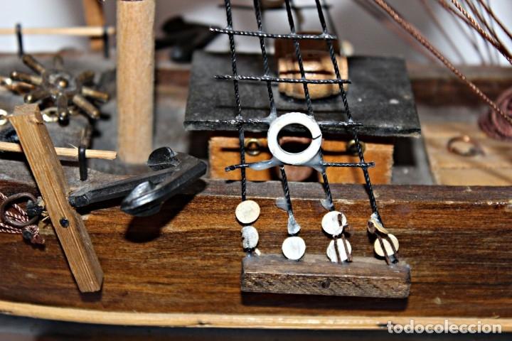 Artesanía: Barco S XIX de madera. Años 50´s. (1) - Madera de roble y partes metálicas España - Primera mitad de - Foto 9 - 177326927