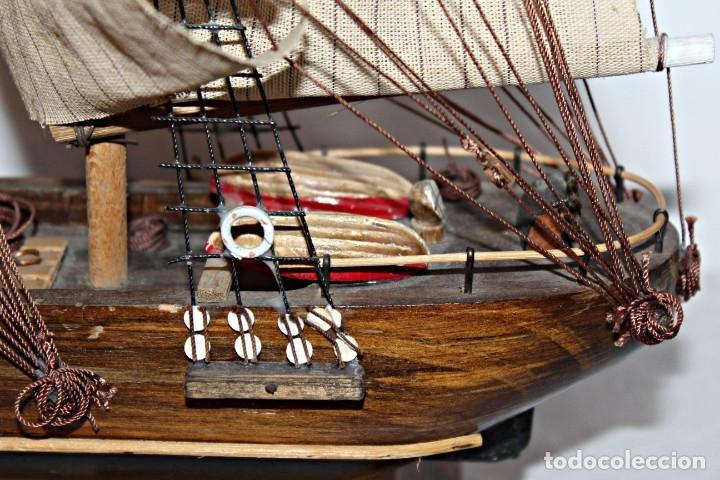 Artesanía: Barco S XIX de madera. Años 50´s. (1) - Madera de roble y partes metálicas España - Primera mitad de - Foto 10 - 177326927