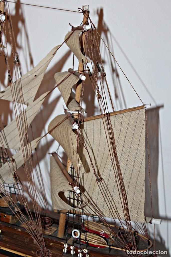 Artesanía: Barco S XIX de madera. Años 50´s. (1) - Madera de roble y partes metálicas España - Primera mitad de - Foto 11 - 177326927