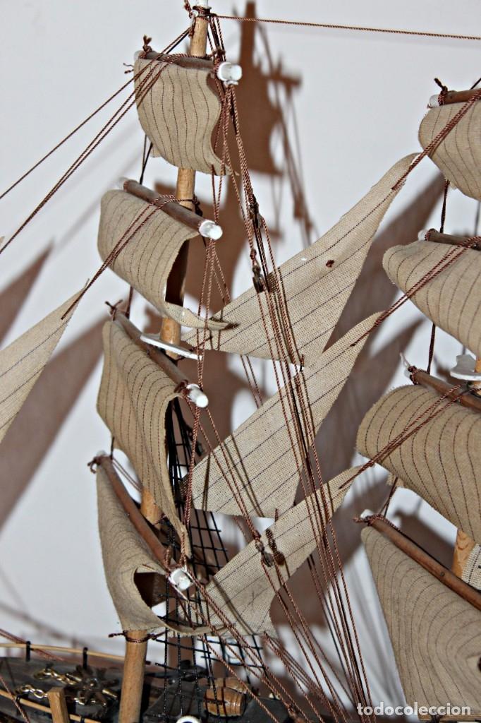Artesanía: Barco S XIX de madera. Años 50´s. (1) - Madera de roble y partes metálicas España - Primera mitad de - Foto 12 - 177326927
