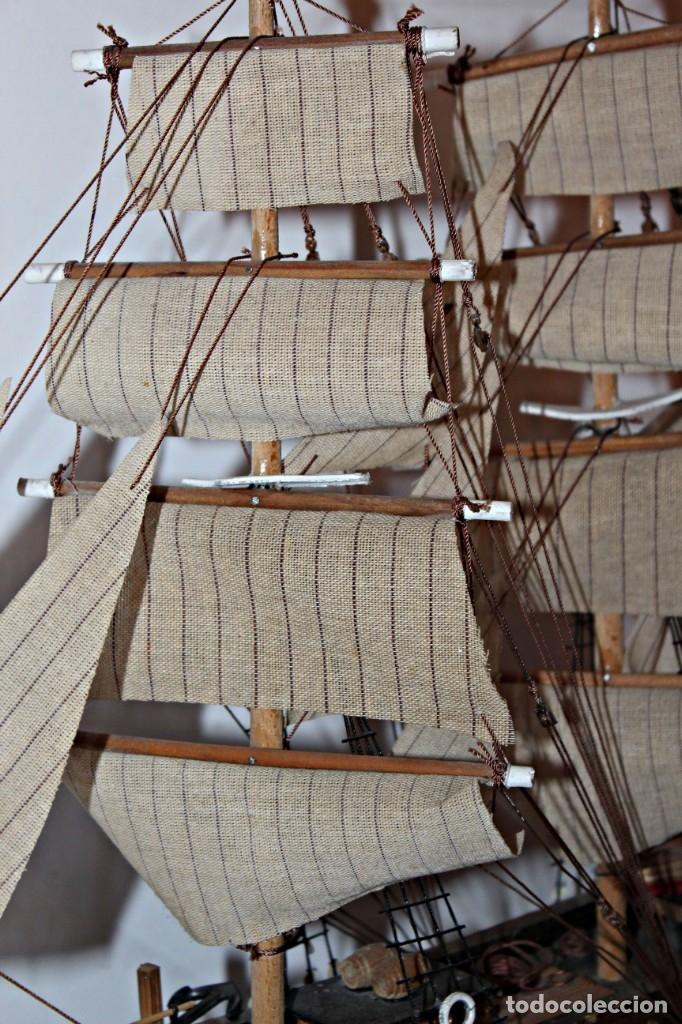 Artesanía: Barco S XIX de madera. Años 50´s. (1) - Madera de roble y partes metálicas España - Primera mitad de - Foto 14 - 177326927